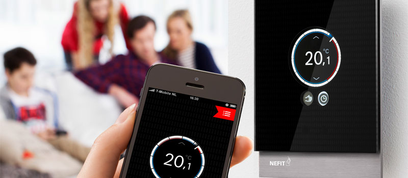 Nefit Easy, de slimme thermostaat die u bedient via een app.
