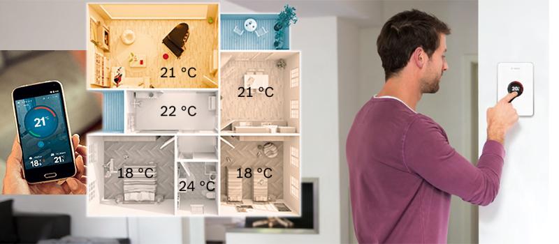EasyControl, de slimme thermostaat met automatisch meer comfort.