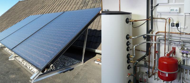 Duurzame energie met de SolarLine-zonneboiler, geïnstalleerd door Verhees en van Dijk, uw Nefit dealer.