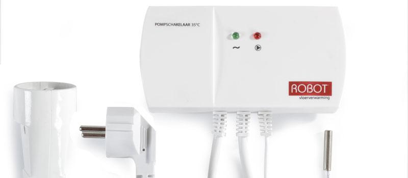 Slimme Robot pompschakelaar voor vloerverwarming, aanschafkosten binnen één jaar terugverdiend!
