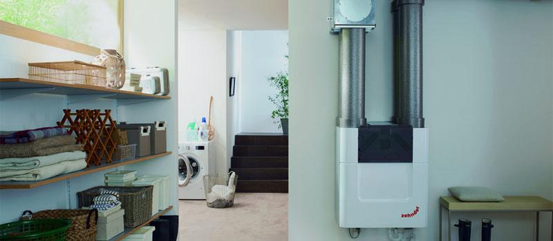 Zehnder ComfoAir Q ventilatiesysteem met warmteterugwinning voor maximale EPC-reductie.