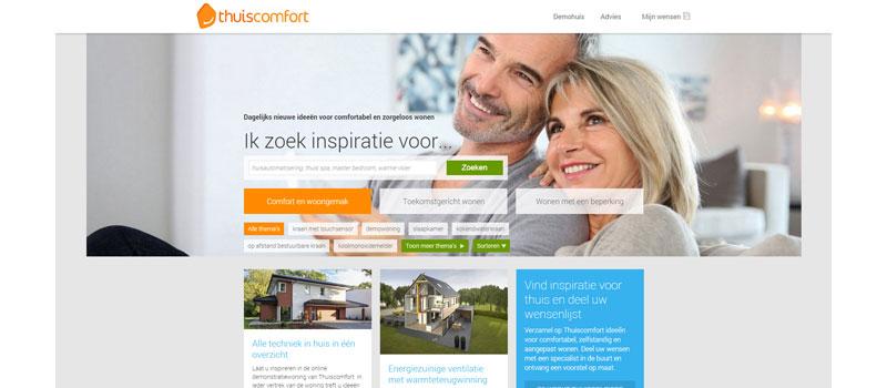 Thuiscomfort.nl, de nieuwe website met een compleet overzicht voor comfortabel en toekomstbestendig wonen.